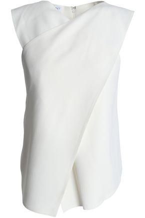 VIONNET Wrap-effect crepe top