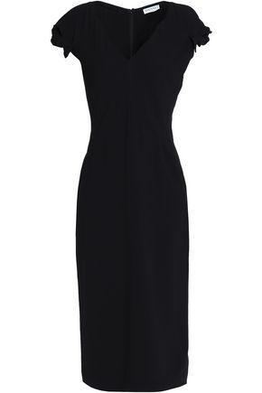 VIONNET Bow-embellished crepe midi dress