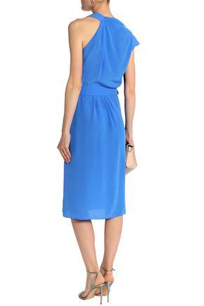 VIONNET Draped silk-crepe dress