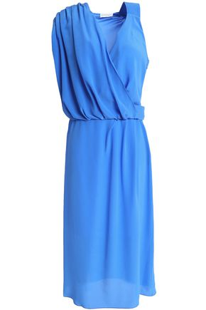 VIONNET Draped silk-crepe dress