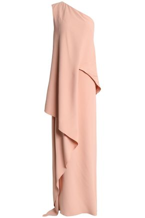 VIONNET One-shoulder draped crepe gown