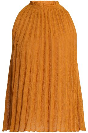 M MISSONI Pleated cotton-blend top
