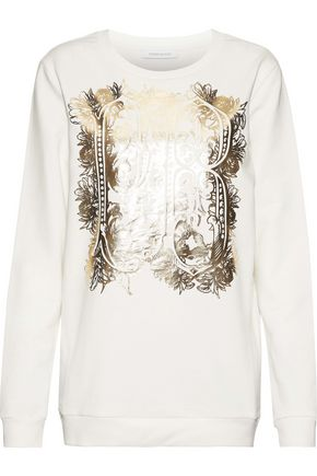 PIERRE BALMAIN Printed French cotton-terry sweatshirt