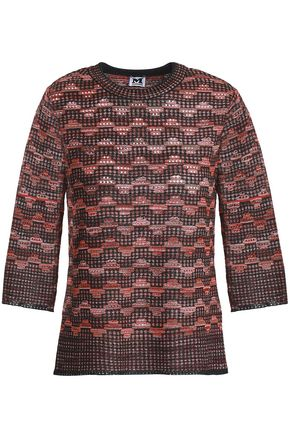 M MISSONI Metallic crochet-knit top