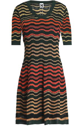 M MISSONI Crochet and pointelle-knit mini dress