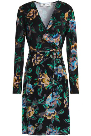 DIANE VON FURSTENBERG Floral-print silk-jersey wrap dress