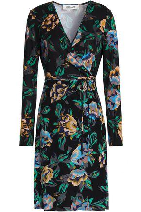 DIANE VON FURSTENBERG Floral-print silk-jersey wrap dress