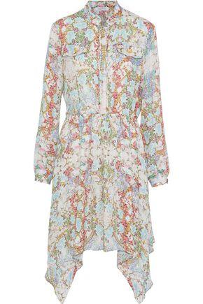 PIERRE BALMAIN Floral-print silk crepe de chine shirt dress