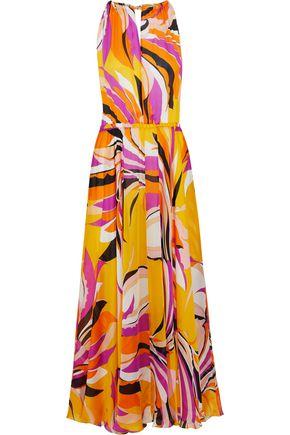 EMILIO PUCCI Fluted printed silk-chiffon maxi dress