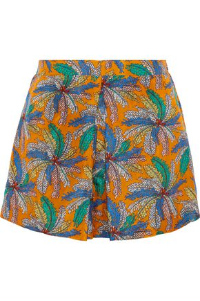 EMILIO PUCCI Pleated printed silk shorts