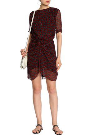 ISABEL MARANT ÉTOILE Knotted polka-dot silk-georgette mini dress