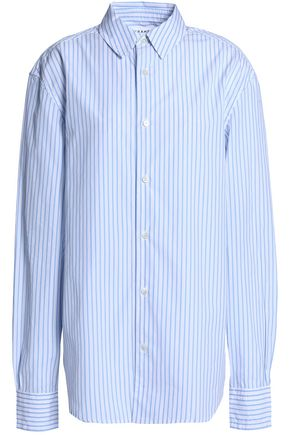 FRAME Striped cotton-poplin shirt
