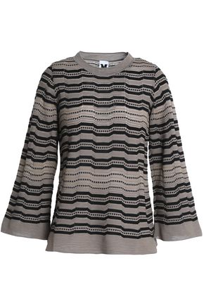 M MISSONI Crochet and pointelle-knit top
