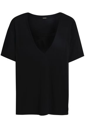 MONROW Cutout modal and Supima cotton-blend jersey T-shirt