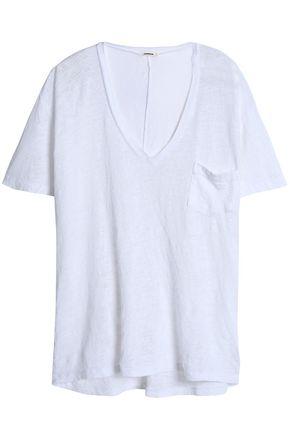 MONROW スラブリネンジャージー Tシャツ