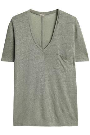 MONROW Slub linen-jersey T-shirt