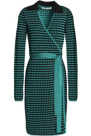 DIANE VON FURSTENBERG Jacquard-knit wrap dress