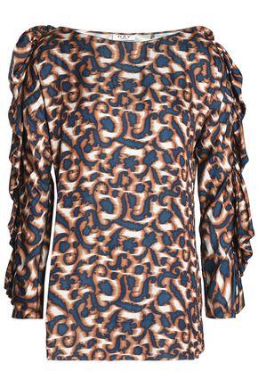 DAY BIRGER ET MIKKELSEN Ruffled printed crepe de chine blouse 51d3576cd