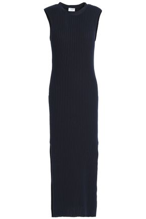 FRAME Ribbed cotton midi dress
