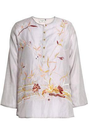 DAY BIRGER ET MIKKELSEN Embroidered gauze blouse