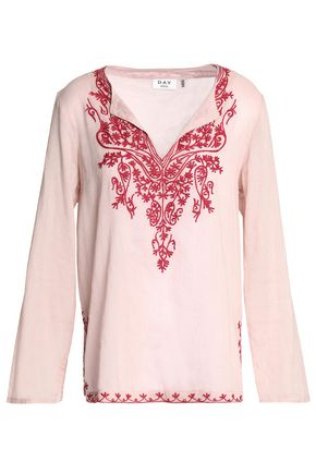 DAY BIRGER ET MIKKELSEN Embroidered cotton-gauze blouse