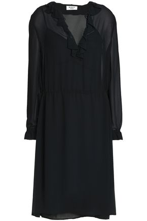 DAY BIRGER ET MIKKELSEN Ruffled crepe de chine dress