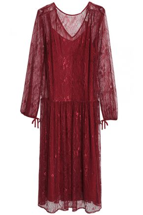DAY BIRGER ET MIKKELSEN Pleated lace midi dress