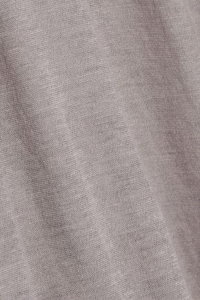 RICK OWENS Mélange cotton-jersey top