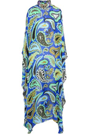 EMILIO PUCCI Embellished printed silk-chiffon maxi dress