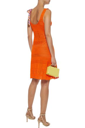 EMILIO PUCCI Bow-embellished crocheted cotton dress