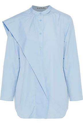ACNE STUDIOS Bianca layered cotton-poplin shirt