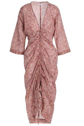 DAY BIRGER ET MIKKELSEN Ruched printed cotton dress