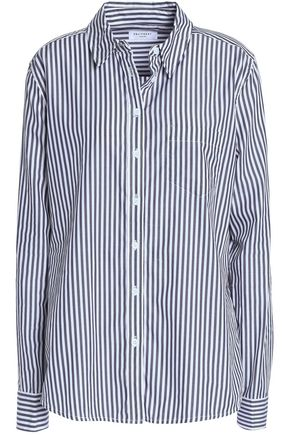 EQUIPMENT Brett embroidered striped cotton-poplin shirt