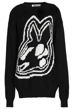 McQ Alexander McQueen intarsia cotton sweater