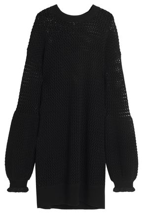 McQ Alexander McQueen Open-knit wool mini dress