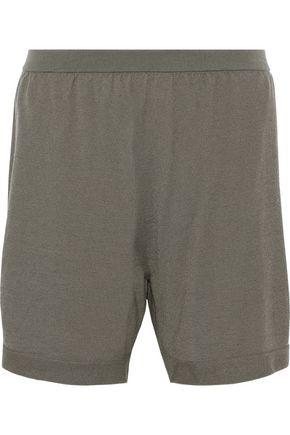 RICK OWENS Mélange cashmere-blend shorts
