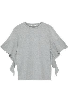 GOEN.J Ruffled mélange cotton-jersey T-shirt