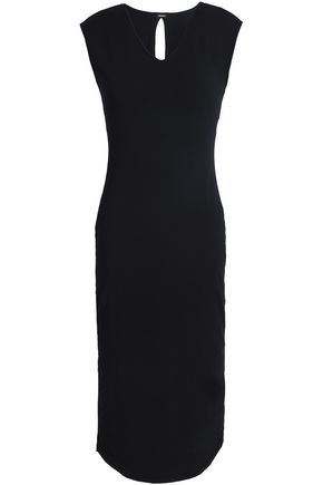 MONROW Cutout stretch-jersey dress