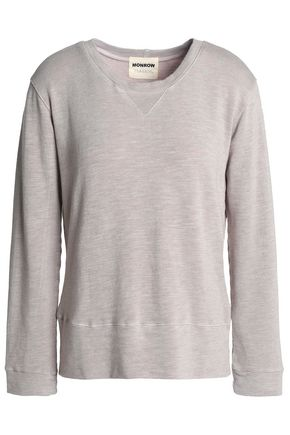 MONROW Mélange French terry sweatshirt