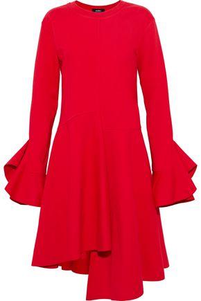 GOEN.J Asymmetric ruffled cotton-jersey dress