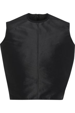 RICK OWENS Oversized silk-taffeta top