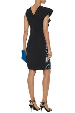 EMILIO PUCCI Ruffled printed crepe dress