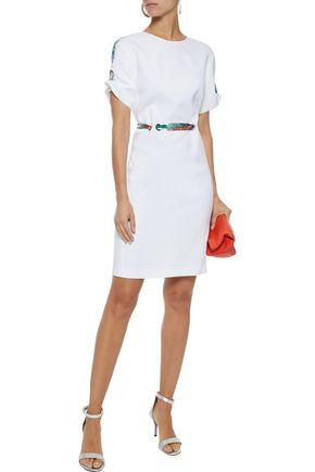 EMILIO PUCCI Printed twill-trimmed stretch-cady mini dress