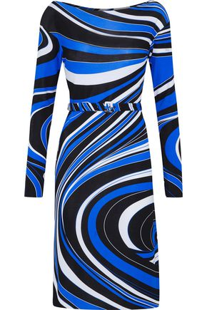 EMILIO PUCCI Belted printed crepe dress