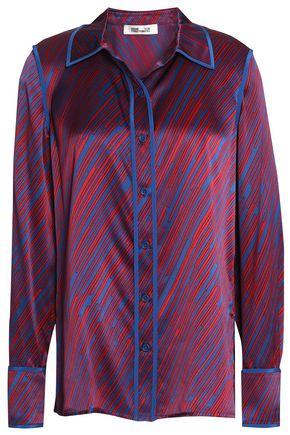 DIANE VON FURSTENBERG Printed silk-satin shirt