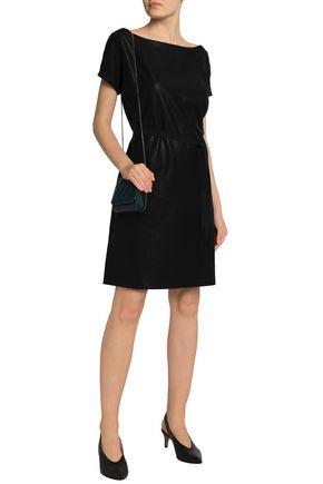 DAY BIRGER ET MIKKELSEN Grosgrain-trimmed coated woven dress