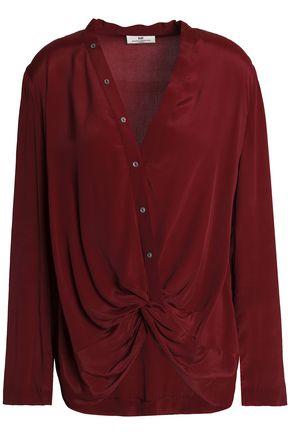 DAY BIRGER ET MIKKELSEN Twisted crepe de chine blouse