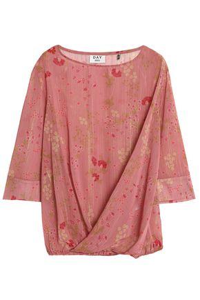 DAY BIRGER ET MIKKELSEN Lamé-trimmed floral-print georgette blouse