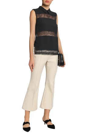 DAY BIRGER ET MIKKELSEN Paneled lace and crepe top