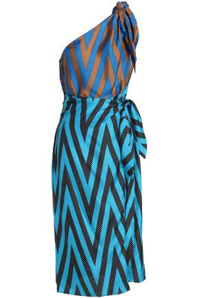DIANE VON FURSTENBERG Knotted printed silk midi dress